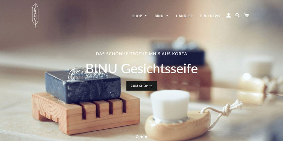 Shopify Beispiel - binu-beauty.de